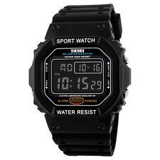 SKMEI Shockproof Vintage 50M Waterproof Watch LED Digital Display Wristwatch