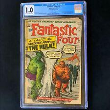 Fantastic Four #12 (1963) 💥 CGC 1.0 OW-W 💥 1st Meeting of FF & Hulk! Comic