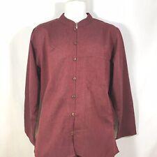 Traditional Indian Mens Summer Shirt Light weight Cotton MAROON