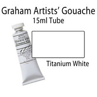 Graham Artists Gouache 15ml Tube Titanium White