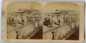 Railroad Station Christo Santiago ?  Vintage Stereoview Photo ca.1906