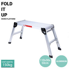 150kg Portable Folding Aluminium Platform Ladder Saw Horse Cutting Work Bench