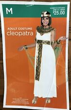 Adult Cleopatra Halloween Costume Women's Size Medium Complete 8 piece Outfit