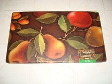 Memory Foam Anti Fatigue  Kitchen Floor Mat Rug 18x30 FRUIT Apples Pear Cherry