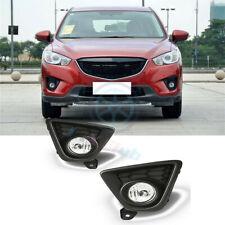 For Mazda CX-5 2013-2016 Clear Lens OE Fog Light Lamp & Wiring & Switch Kit k