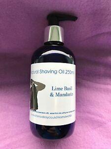 Shaving Oil 250ml - Lime, Basil & Mandarin - 100% Pure & Natural