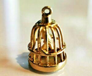 Birdcage Vintage Charm, Hallmarked 9ct gold Birmingham c1967 FREE P&P #C1