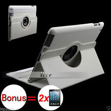 Slim Stand Smart Leather Case Cover for Apple iPad 4, 3, 2+ 2 Flim Protect White