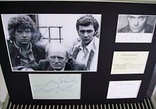 "GORDON JACKSON MARTIN SHAW LEWIS COLLINS ""THE PROFESSIONALS"" AUTOGRAPH DISPLAY"