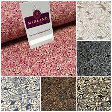 """100% Cotton Small Floral poplin print 44"""" Wide Fabric Mtex MK823"""