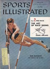 6-24-57 SPORTS ILLUSTRATED BOB GUTOWSKI POLE VAULT TRACK AND FIELD