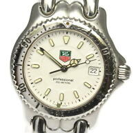 TAG HEUER S/el WG1212-K0 Date White Dial Quartz Boy's Watch_574709