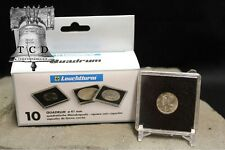 10 ✯ Roosevelt Dime Coin Snap Capsule 18mm LIGHTHOUSE QUADRUM 2x2 Storage