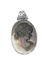 Hand made Vintage Jewelry Natural Carved Cameo Shell Pendants