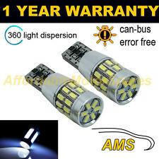 2x W5W T10 501 Errore Canbus libero White 30 SMD LED hilevel FRENO LAMPADINE hlbl102801