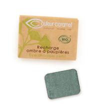 Recharge Fard à Paupières n°50 Vert Bleuté nacrée  Bio - 1,3 g - Couleur Caramel