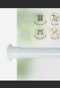 ALLZONE Room Divider Tension Curtain Rod, 83-120 inch, No Drilling, Never Bend