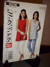 See & Sew 5736 Sewing Pattern Misses Top Uncut Factory Folded