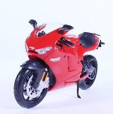 TM05RD DUCATI Desmosedici RR Street Diecast Model Motorcycle Bike All Red 1:12