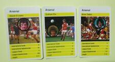 3 TOP TRUMPS - BRITISH SOCCER STARS 1978/79  ARSENAL'S B.TALBOT G.RIX D O'LEARY