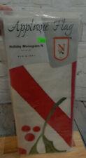 "Evergreen 28"" x 44"" Applique Flag Holiday Monogram Flag-N"