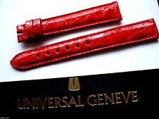 Bracelet crocodile rouge UNIVERSAL GENEVE 14 mm montre vintage band strap chrono