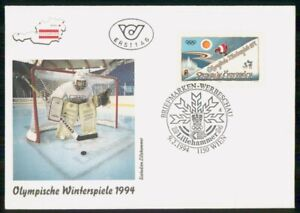 Mayfairstamps Austria FDC 1994 Winter Olympics Hockey Goalie First Day Cover wwm