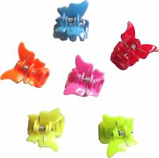 12 x claws mini butterfly hair claws in pretty colours