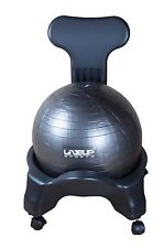 Balance posture chair with wheels, pump and ball