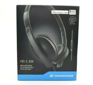 Sennheiser - HD 2.30i - On-Ear Headphones - Black Foldable Cable Control iPhone