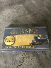 Harry Potter Hogwarts Express Ticket 24K Gold Collectible 2000pcs Worldwide
