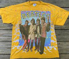 The Beatles T-Shirt Vintage 90s British Band John Paul George Ringo Peace & Love
