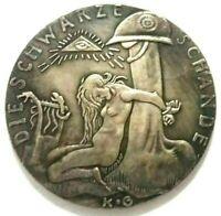 Exonumia Large German Medal -/- EXONUMIA -/- Silver plated token