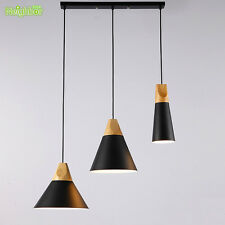 Nordic Pendant Lights For Home Lighting Hanging Lamp Wooden Aluminum Lampshade