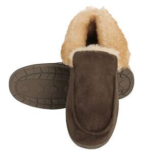 Haggar Mens Bootie Slipper House Shoe Indoor/Outdoor with Memory Foam Comfort