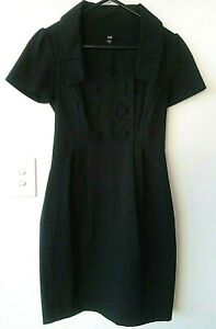 AS NEW Charcoal Grey Pencil Dress CUE Size 6 Gorgeous *B