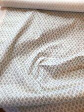 Sister Parish Burma Seafoam and White Cotton 1 Yard Piece