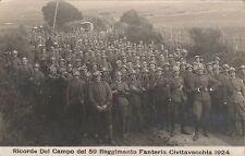 * CIVITAVECCHIA - Campo del 59° Reggimento Fanteria 1924 Fotocartolina