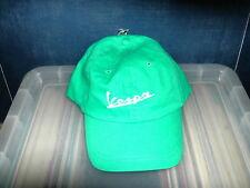 Vespa logo baseball style cap in kelly green