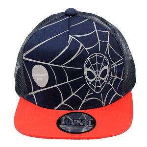 Licensed Boys Marvel Spiderman Baseball Cap Hat Age 4-12 Years Mesh Back
