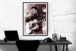 Elvis Presley in Concert Poster Elvis Presley Music Poster Elvis Presley 4 Sizes