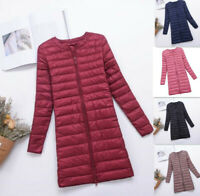 Woman Down Puffer Jacket Coat Autumn Winter Duck Down Ultra Light Quilted parka