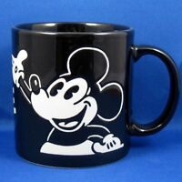 Mickey Mouse Mug Coffee Cup Black White Embossed Sculptured Disney Gift Idea EUC