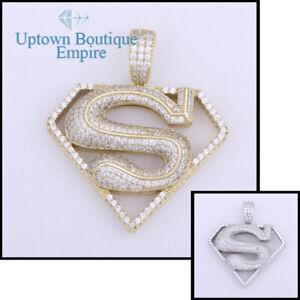 Superman Men Women's 925 Sterling Silver Pendant*EC