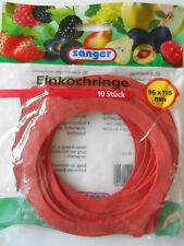 50 Stück Einkochringe Einkoch-Gummis rot 96x118 mm