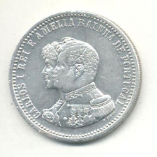 PORTUGAL 500 REIS 1898 - 400th ANNIVERSARY DISCOVER OF INDIA D. CARLOS I SILVER