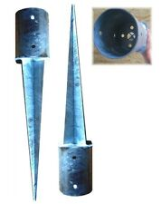 2er Set Pfostenanker Bodenhülsen Ø 101 Einschlagbodenhülse 600mm Bodenanker verz