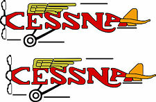 2 VINTAGE CESSNA  Decals  FREE SHIPPING