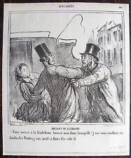 DAUMIER, LITHOGRAPHIE ORIGINALE,ACTUALITES (1866) / COCHER / CALECHE / MADELEINE