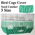 3 Sizes Green Seed Catcher Guard Nylon Mesh Bird Cage Tidy Cover Skirt Cage